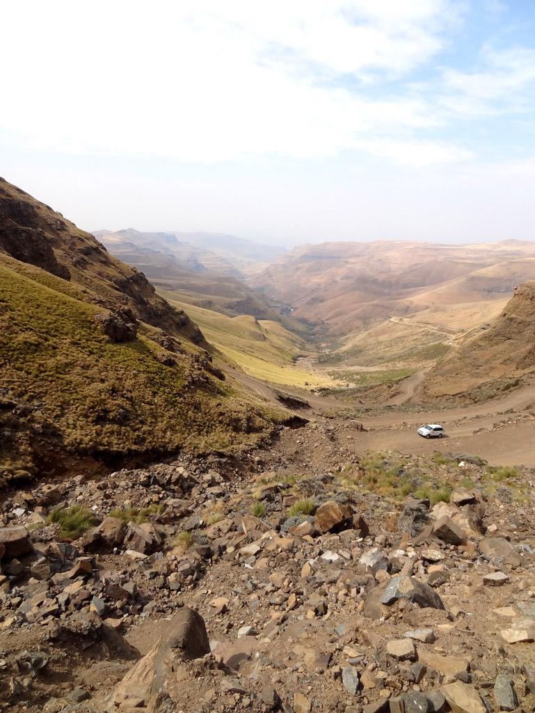 En haut du Sani Pass, à deux pas du Lesotho