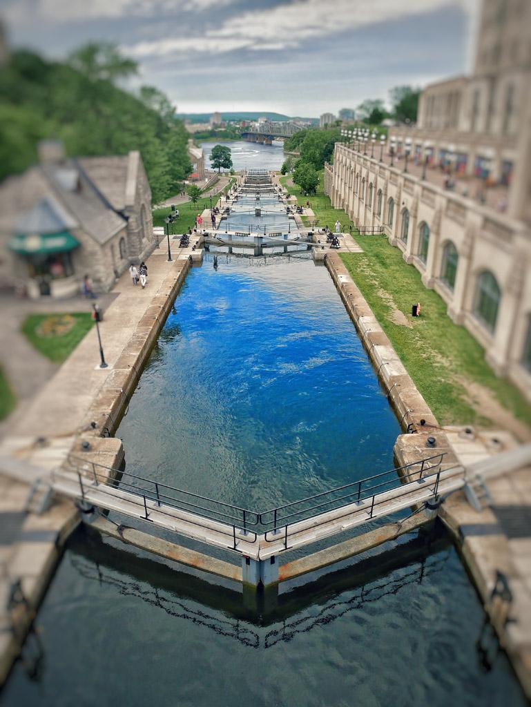visiter ottawa en une journée: les écluses du canal Rideau