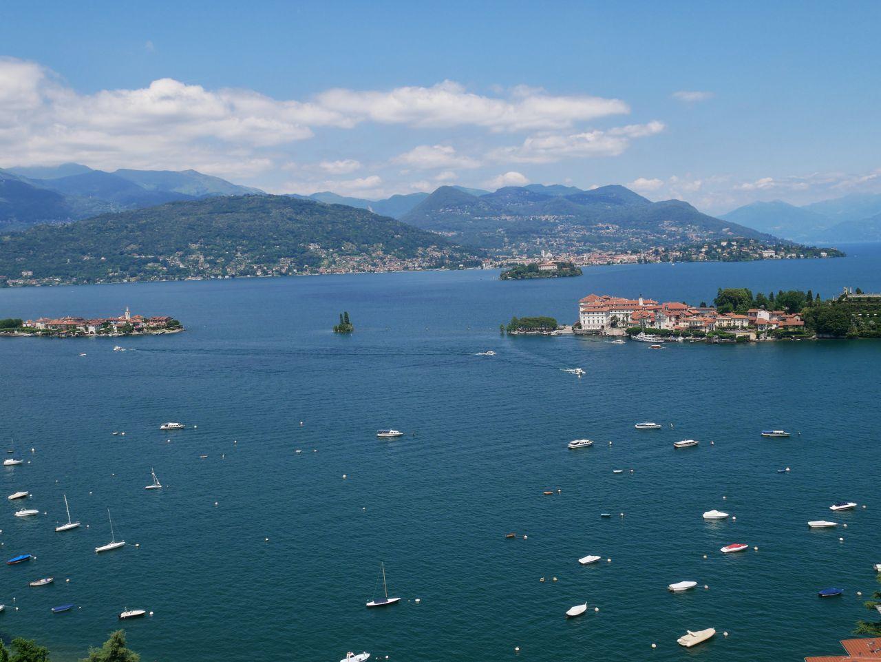 2 jours au lac Majeur: vue du lac depuis le téléphérique du Mottarone