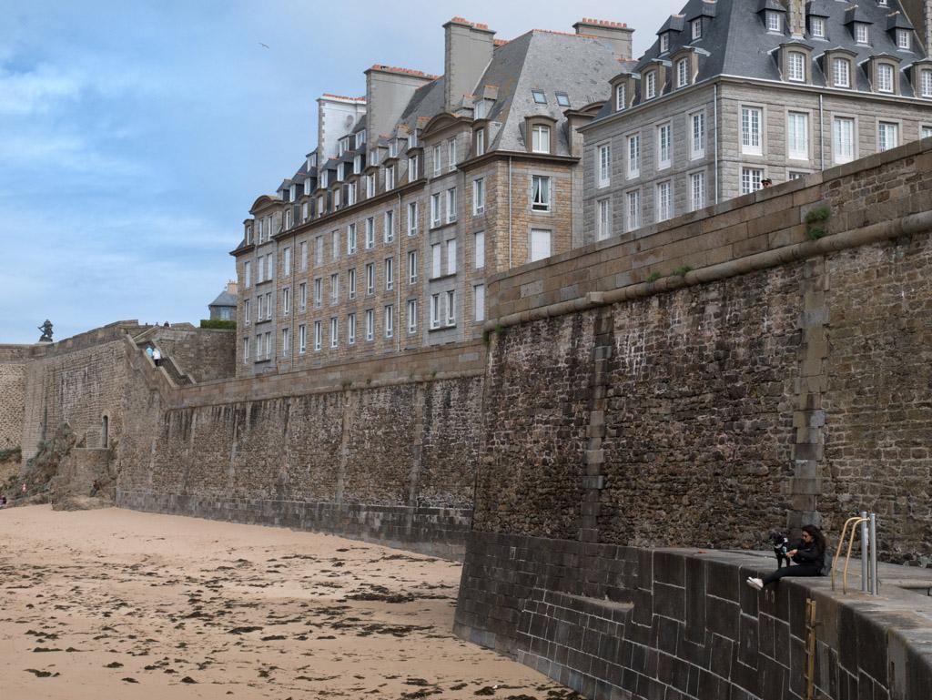 vue des remparts à marée basse
