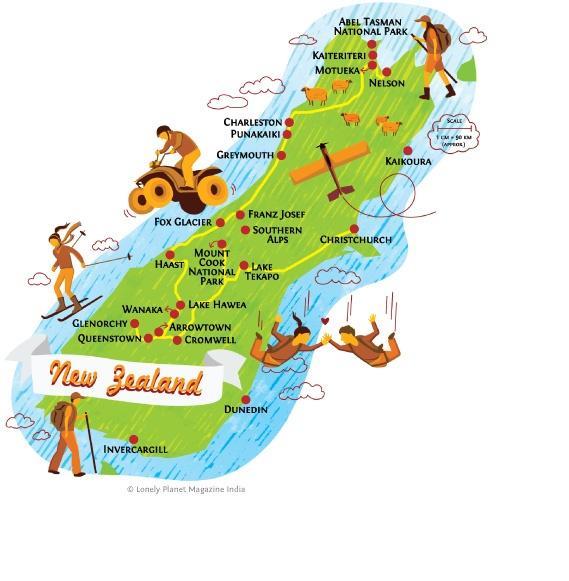 new-zealand-south-island-map-honeymoon-pinterest