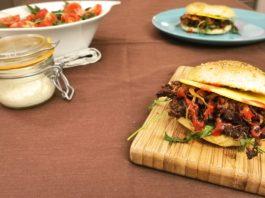 Burger pulled pork vegan